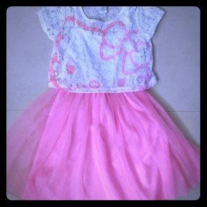 HELLO KITTY!  LIGHT PINK dress with sheer layer